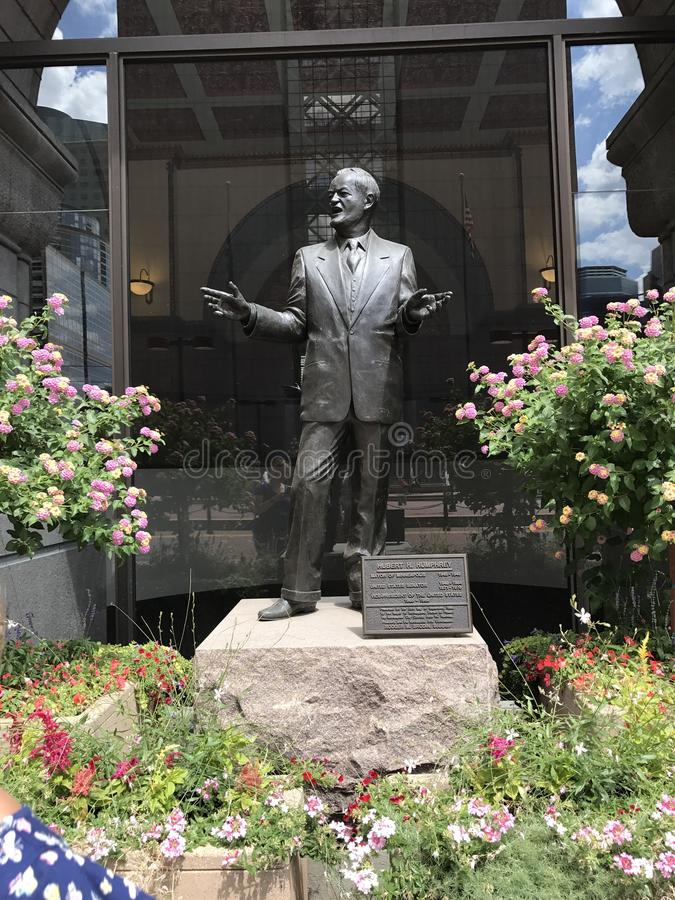Hubert Humphries. Downtown Minneapolis, MN royalty free stock photos