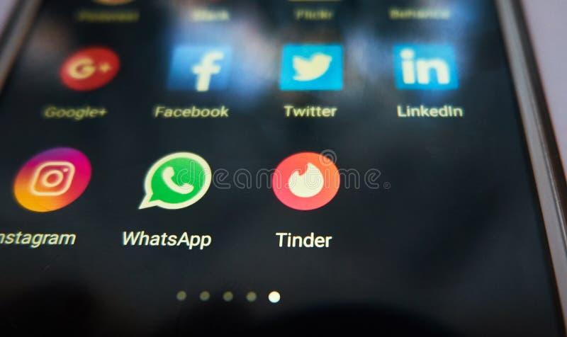 Hubka - jeden popularny datuje app w świacie obraz stock