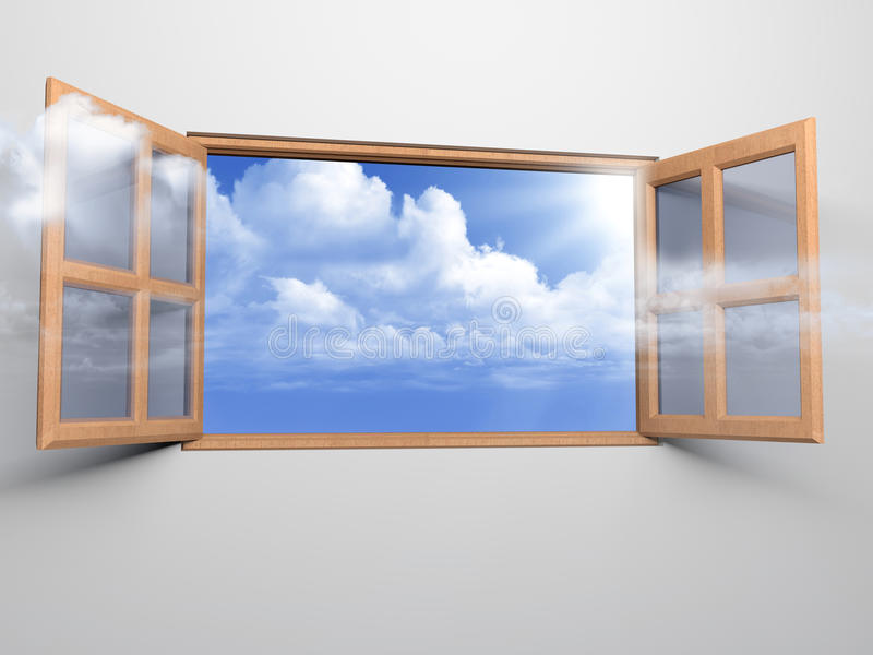 Hublot au ciel photographie stock libre de droits