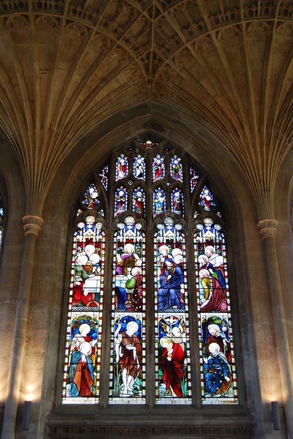 Hublot, cathédrale, Peterborough. photographie stock