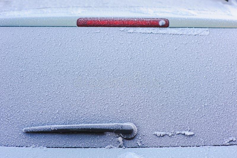 hublot congelé par véhicule image libre de droits