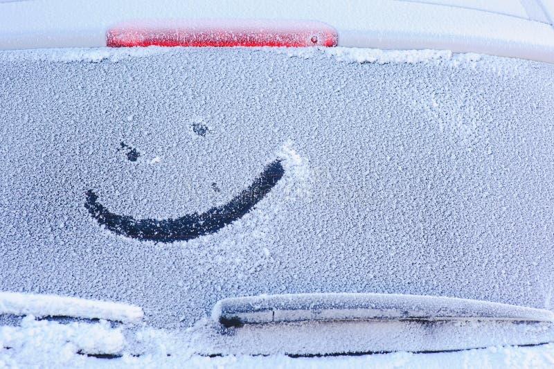 hublot congelé par véhicule photographie stock