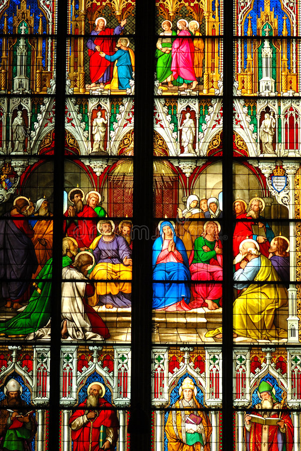 hublot de cathédrale photographie stock