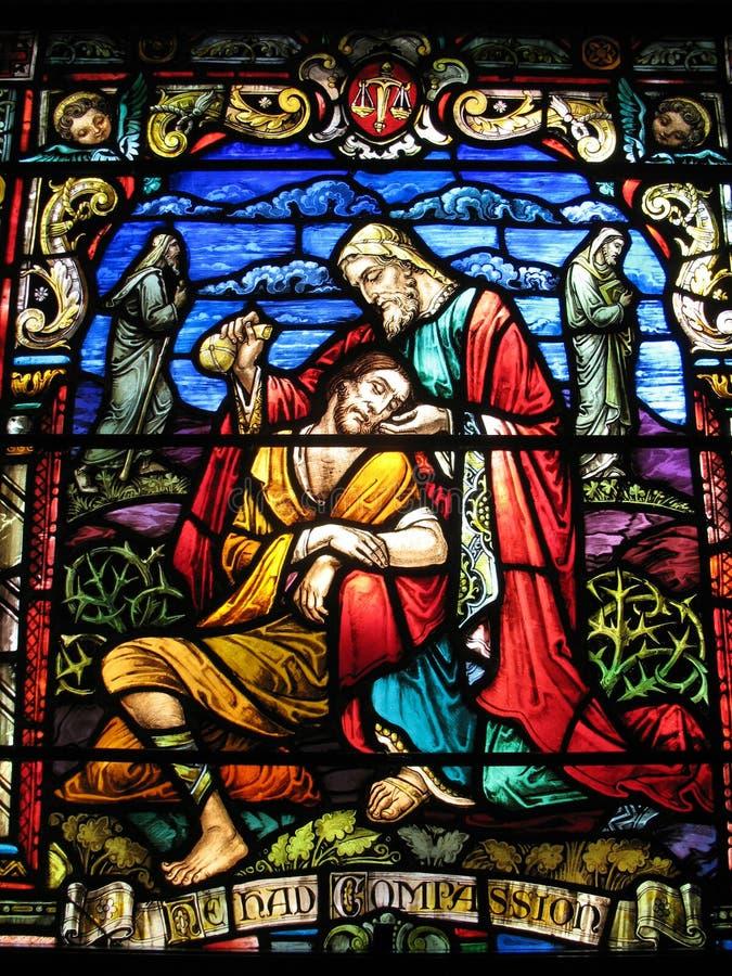 Hublot de l'église de Peter de saint image stock