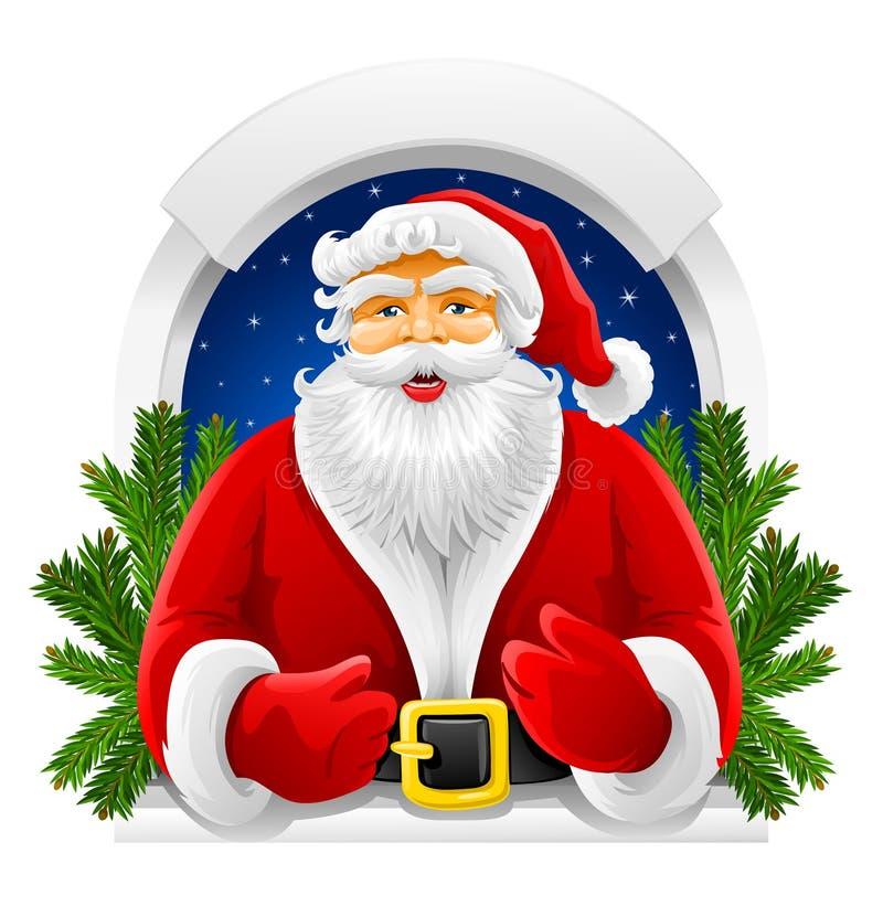 hublot de vecteur de Claus Santa de Noël illustration stock