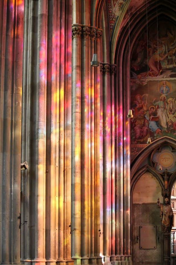 Hublot de verre coloré photographie stock