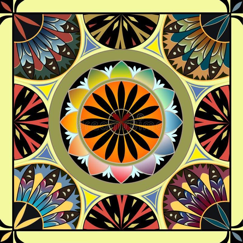 Hublot de verre coloré 4 photos libres de droits