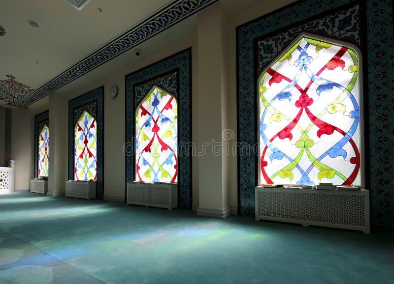 Hublot de verre coloré 4 Mosquée de cathédrale de Moscou (intérieure), Russie image stock