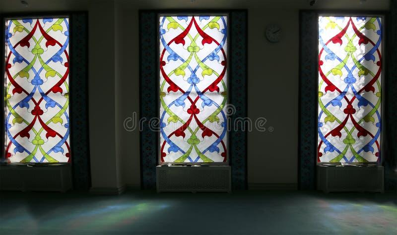 Hublot de verre coloré 4 Mosquée de cathédrale de Moscou (intérieure), Russie photos stock