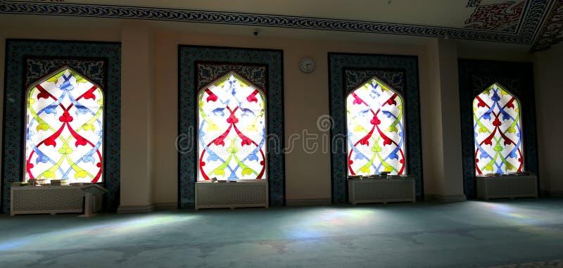 Hublot de verre coloré 4 Mosquée de cathédrale de Moscou (intérieure), Russie photos libres de droits
