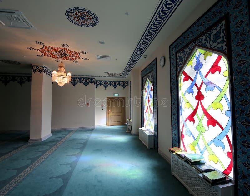 Hublot de verre coloré 4 Mosquée de cathédrale de Moscou (intérieure), Russie image libre de droits