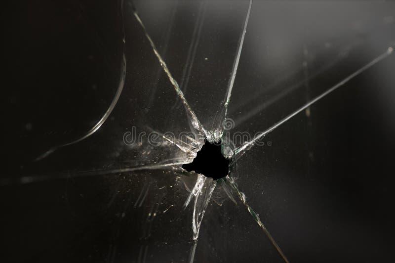 Hublot en verre heurté photographie stock libre de droits
