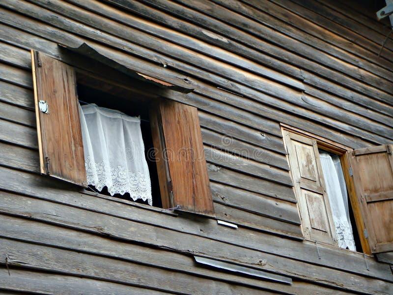 Hublots en bois photo stock