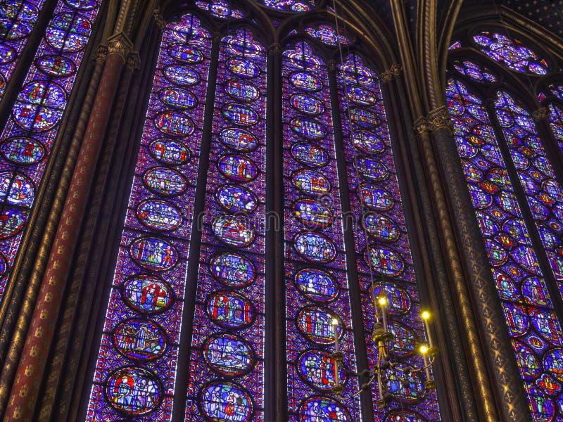 Hublots en verre souillés, Paris image libre de droits