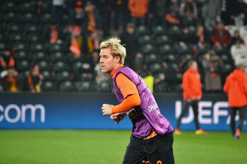 Hubschman Before The Match Of The Champions League Editorial Stock Photo