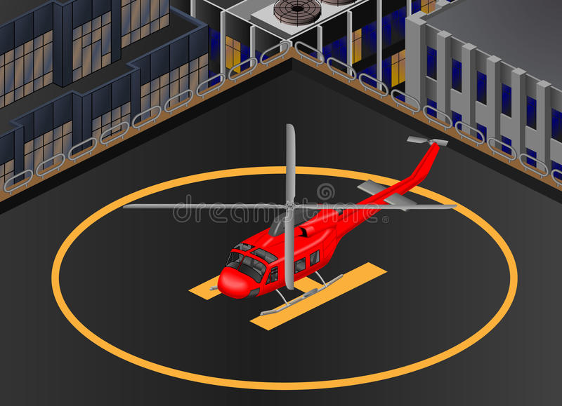 Hubschrauber Bell-412 isometrisch lizenzfreie stockbilder