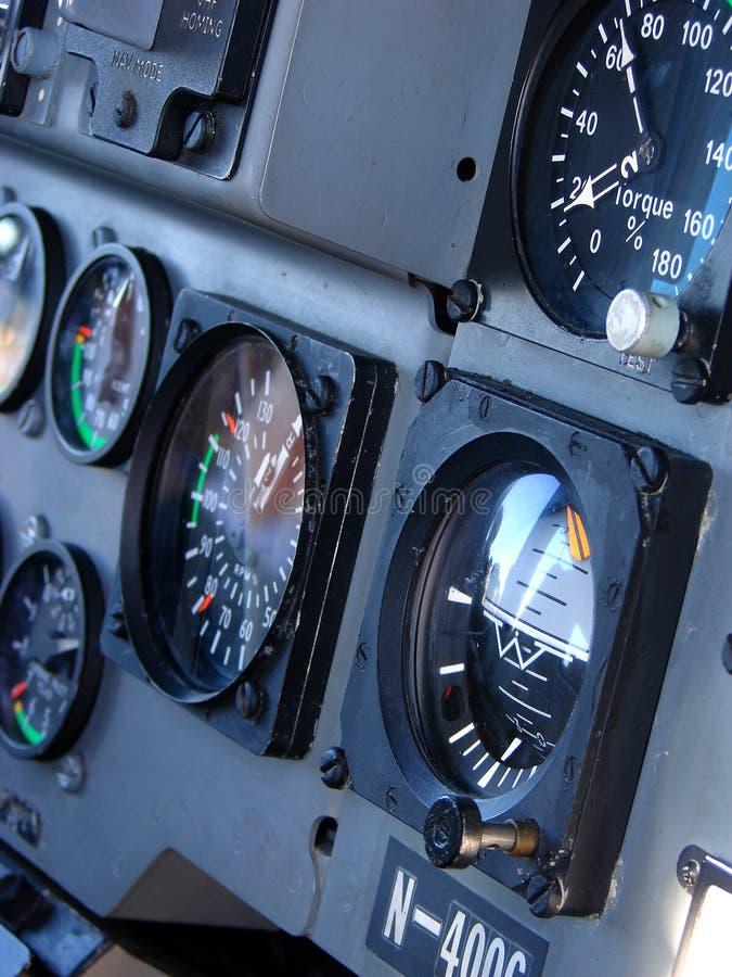 Hubschrauber-Cockpit stockfotografie