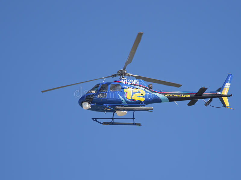Hubschrauber der Nachrichten-12 lizenzfreie stockfotografie