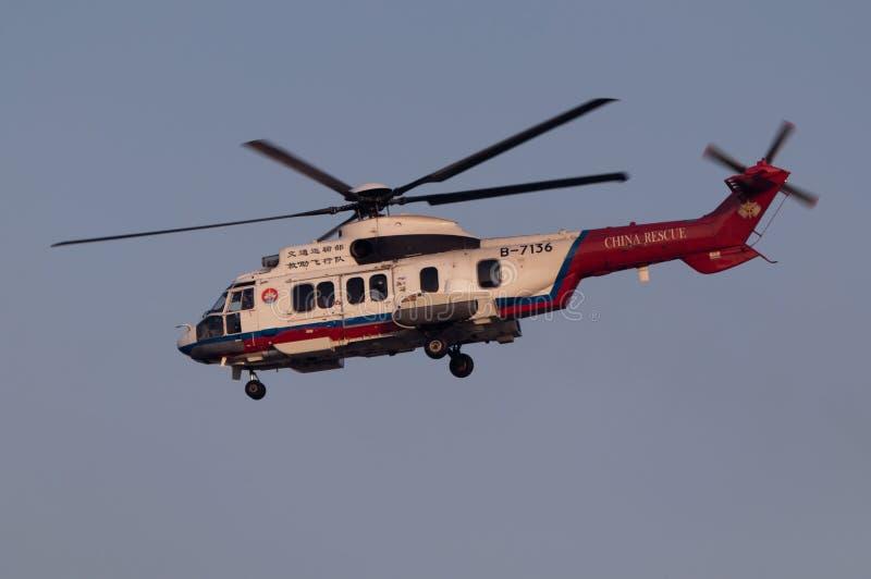 Hubschrauber der Rettung EC225 stockbild