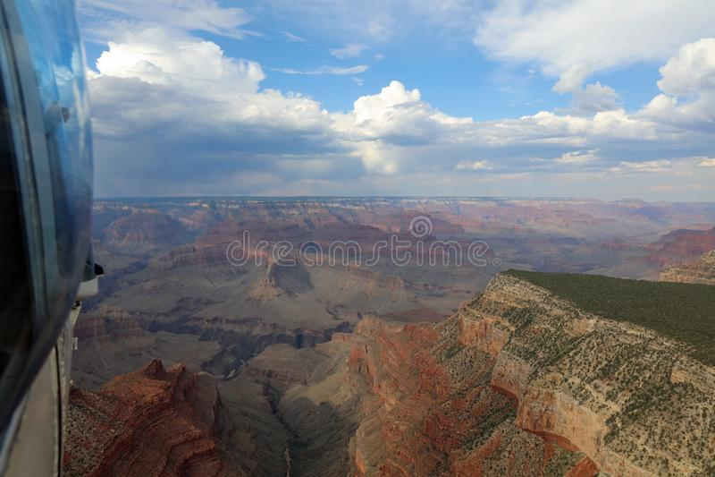 Hubschrauber-Flug über Grand Canyon arizona stockfotografie