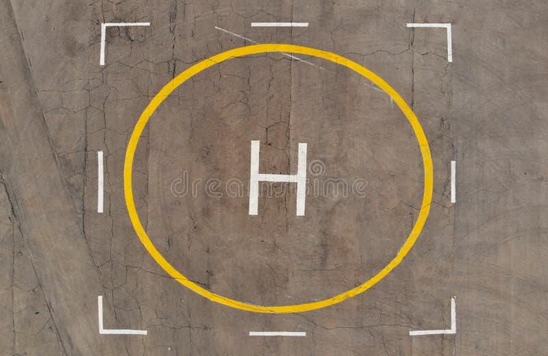 Hubschrauber-Landeplatz Schießen von der Luft hubschrauber lizenzfreies stockfoto