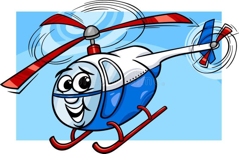 Hubschrauber- oder Zerhackerkarikaturillustration lizenzfreie abbildung