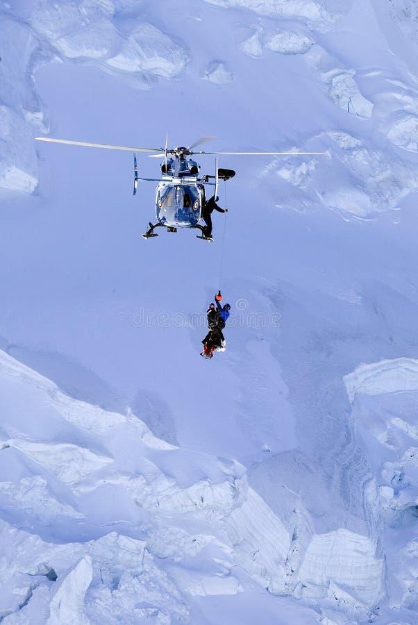 Hubschrauber-Rettung stockbild