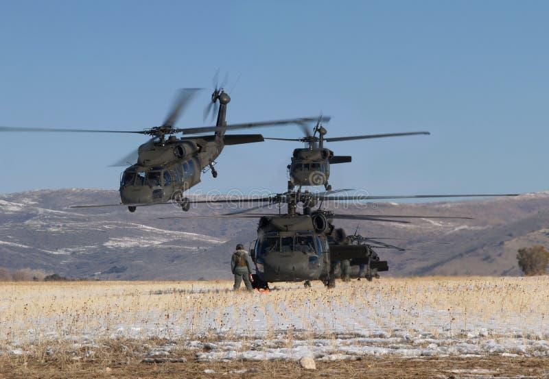 Hubschrauberanordnung stockfotos