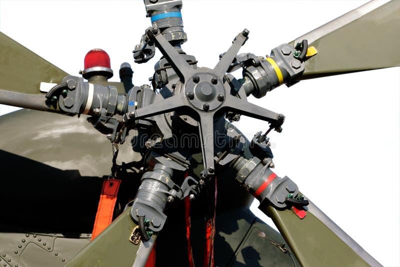 Hubschrauberheckrotor stockbild
