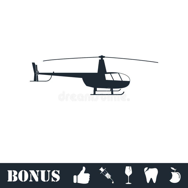 Hubschrauberikone flach lizenzfreie abbildung