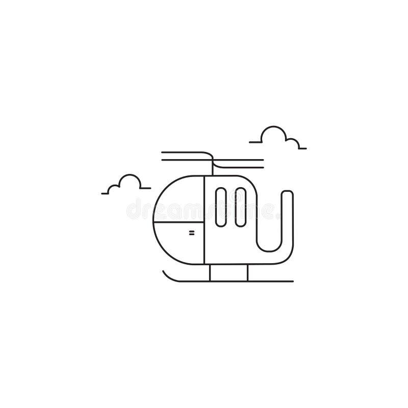Hubschrauberlinie Ikone lizenzfreie abbildung