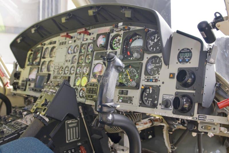 Hubschraubermands oder -kontrollen lizenzfreie stockfotografie