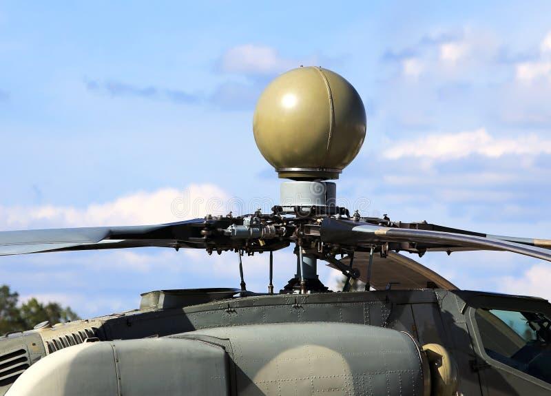 Hubschrauberradarkuppelradar stockfotografie