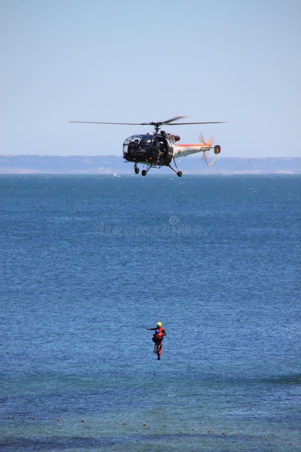 Hubschrauberrettungstraining lizenzfreie stockfotos