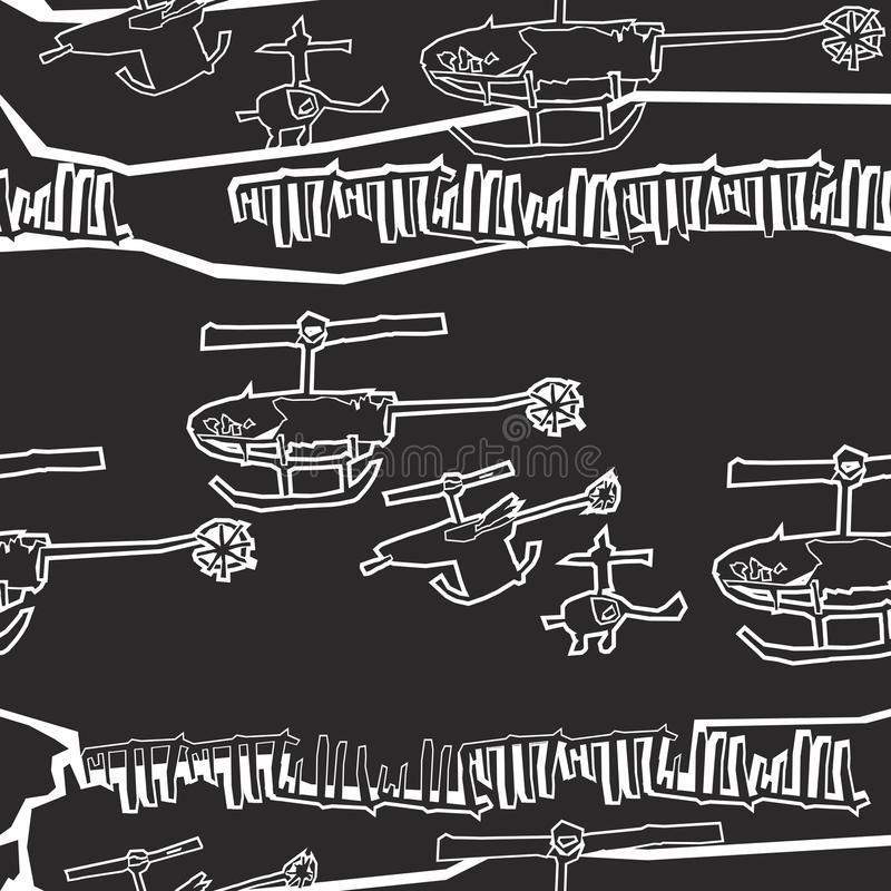 Hubschrauberzeitplan stockbilder