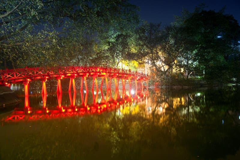 Huc Bridge Hanoi stock photography