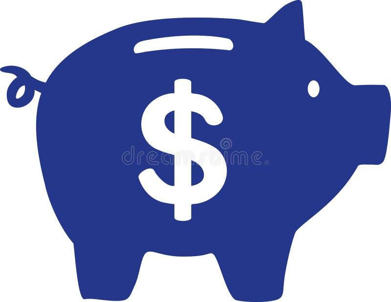 Hucha con la muestra de dólar ilustración del vector