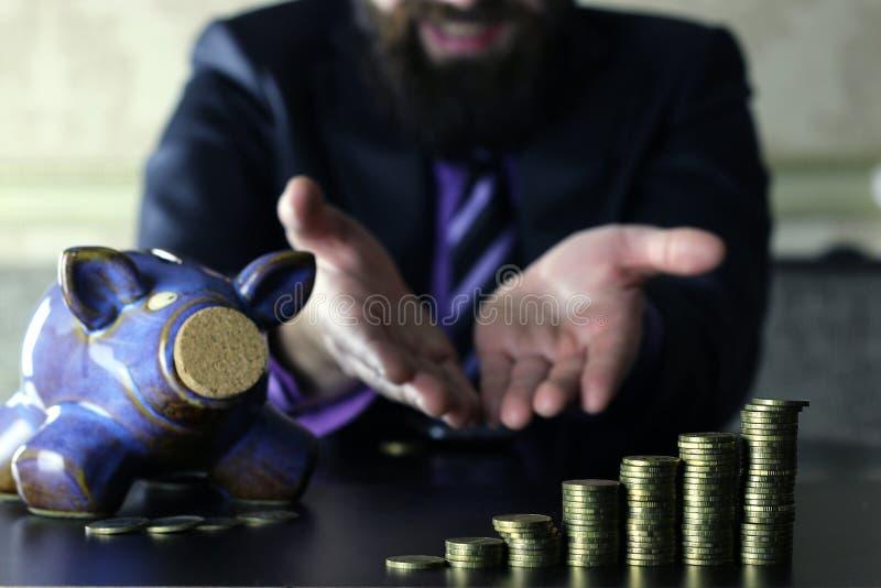 Hucha de la moneda imagen de archivo libre de regalías