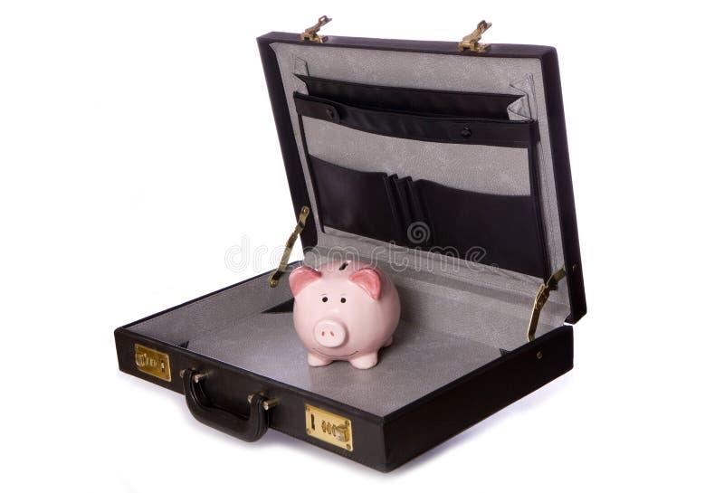 Hucha en recorte de la cartera fotografía de archivo libre de regalías