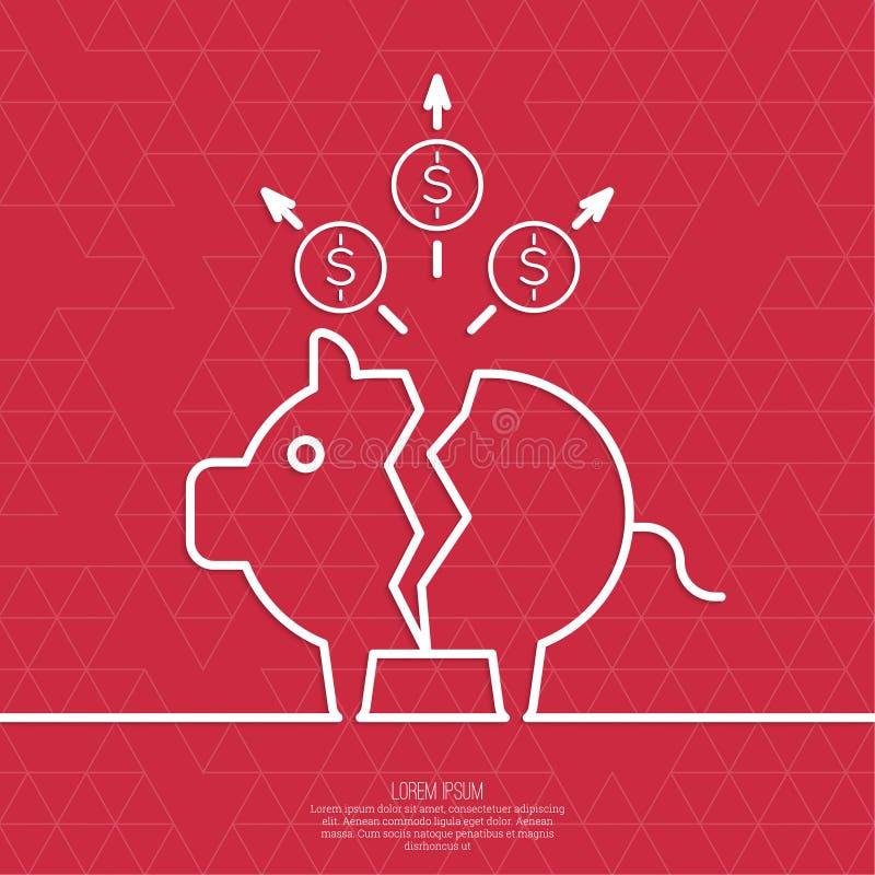 Hucha quebrada del cerdo libre illustration