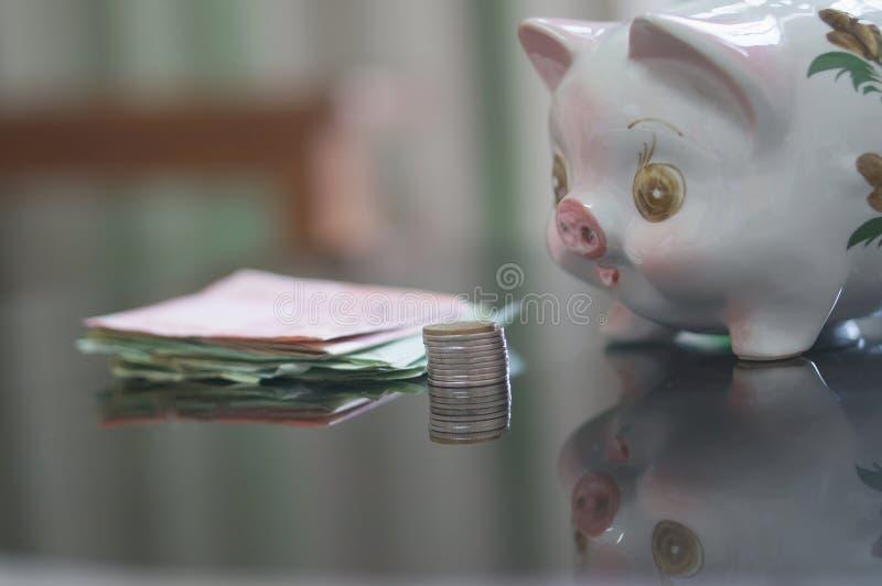 Hucha un ahorro para la vida imágenes de archivo libres de regalías