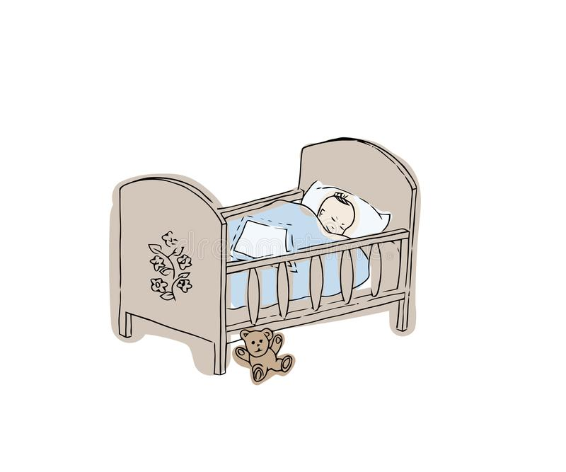 Huche de bébé illustration stock