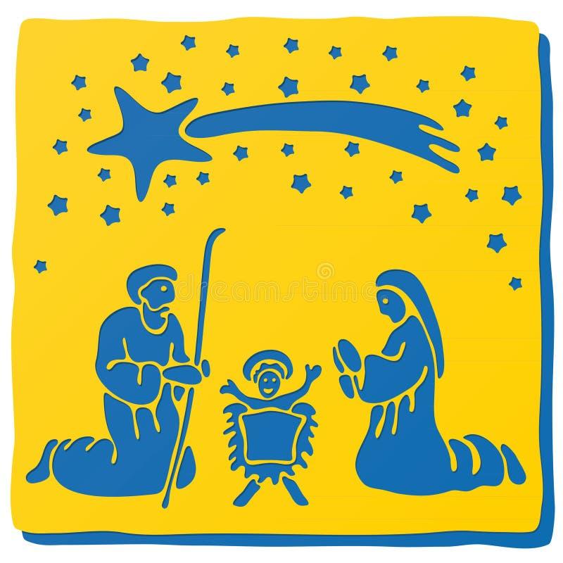 Huche de Noël illustration libre de droits