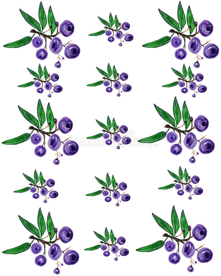 Download Huckleberry pattern 2 stock illustration. Image of huckleberry - 32754575