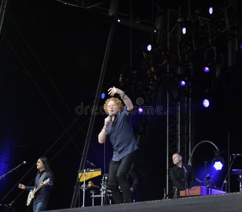 Hucknall de Mick de concert à Doncaster photos stock