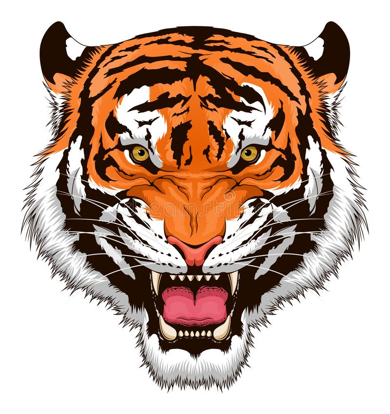 Huczenie tygrysa głowa royalty ilustracja