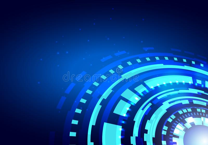 Hud未来派元素 圈子摘要数字技术UI未来派HUD真正接口元素科学幻想小说现代用户为 向量例证