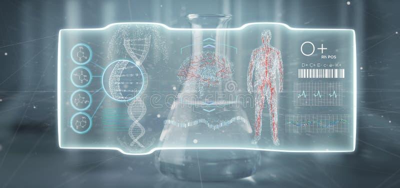 Hud интерфейса футуристического шаблона медицинское изолированное на медицинской бесплатная иллюстрация