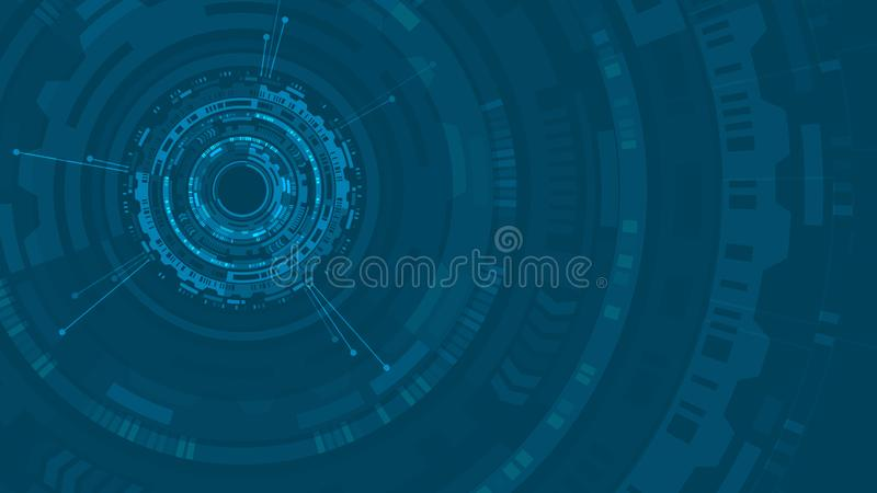HUD abstract circle structure Futuristic user interface. Science background. Hi-tech abstract background. Futuristic technology stock illustration