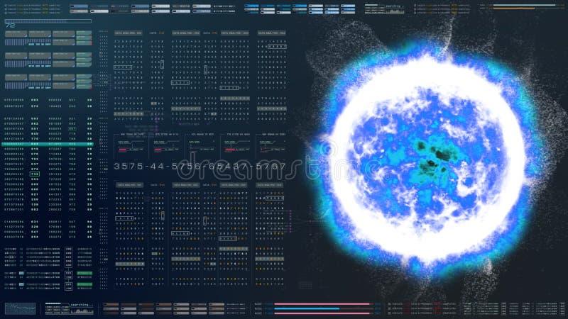 HUD Biomedical Diagnostic futurista libre illustration